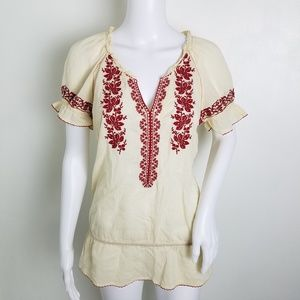 Anthropologie Floreat Embroidery Pleasant Top 2
